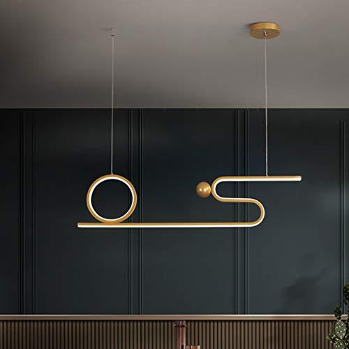WMING Moderno y Sencillo en Tres Tonos de luz LED LED lámpara de luz, sin Control Remoto luz de Techo 3000K-6500K LED Empotrado, Utilizado en el Comedor, salón, Dormitorio, Oficina,Oro