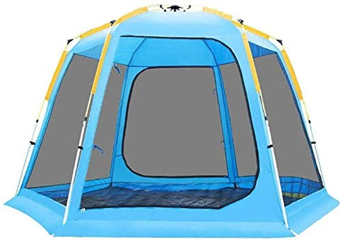 Plztou Tent for Camping Camping Tent, Quick-Opening Tents Family Backpacking Camping Tents Sun Shelter for People Doors On Portable Outdoor Picnic Tent Protection Ventilated Durable