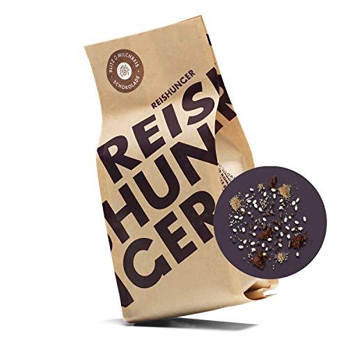 Reishunger Blitz-Milchreis, 3er Vorteilspaket - Schokolade (3 x 255g) Mit knackigen Kakao Nibs - fertig in 15 Min.