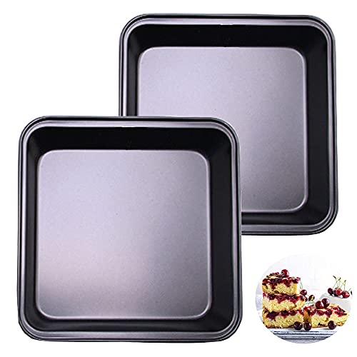 2 kwadratowe formy do ciasta, Brownie, nieprzywierające naczynia do pieczenia, stal węglowa, głęboka blacha do pieczenia, do ciast, chleba, pizzy