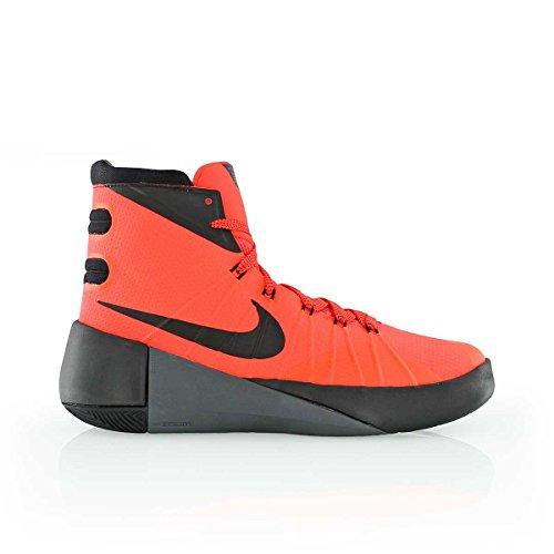 Nike Hyperdunk 2015 (Gs), Bright Crimson/Black-Dark Grey, Größe 38