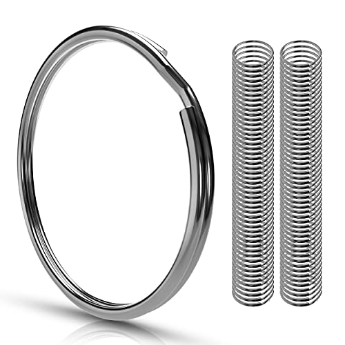 100 Schlüsselringe   25mm   Stahl gehärtet + Rostschutz   leicht zu öffnen - sehr stabil   Außendurchmesser 25mm   magnetisch   Ring für Schlüssel, Schlüsselanhänger, Basteln, Schlüsselring Set