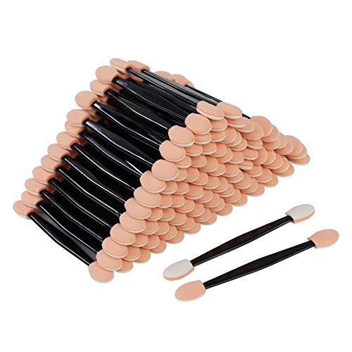 Fard à Paupières Outils de Maquillage Éponge ombre à Paupières Pinceau Jetables à Double Extrémité Applicateurs Fard à Paupières pour Application de Maquillage 100 Pcs