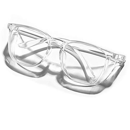 Safety Glasses Anti Fog Goggles Protective Glasses Side Shields Anti Blue Light protection Eye Glasses for Men Women Reading Glasses (Transparent)