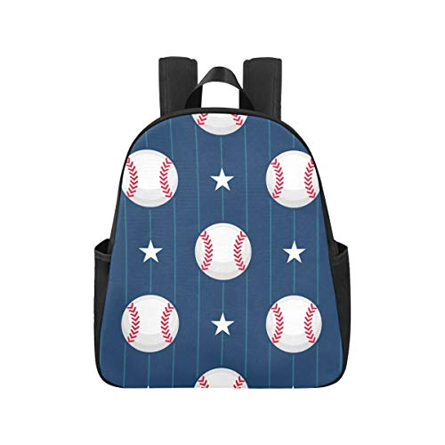 Clean Colourful Baseball Sport Backpack Purse 12.40x5.12x14.17inch Bagpack Multipurpose Casual Backpacks School Business Travel School,Office