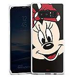 DeinDesign Silikon Hülle kompatibel mit Samsung Galaxy Note 8 Duos Hülle weiß Handyhülle Minnie Mouse Disney Offizielles Lizenzprodukt