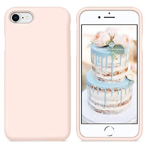 SURPHY Cover Compatibile con iPhone SE 2020/iPhone 8/iPhone 7, Custodia per iPhone SE 2020/8/7 Silicone Cover Antiurto con Fodera in Microfibra Case per iPhone SE 2020/8/7 4.7', Rosa Sabbia