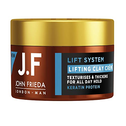 John Frieda Man Lifting Clay Creme - Stylingcreme - Mit Keratin-Protein, 90 ml