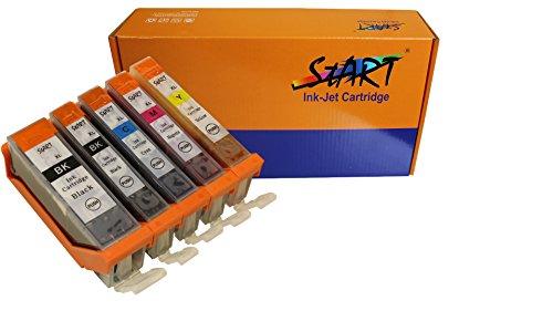 Start - 5 XXL Ersatz Chip Patronen kompatibel zu Canon PGI-580 PGBK XXL Schwarz, CLI-581BK XXL Photo-Schwarz, CLI-581C XXL Cyan, CLI-581M XXL Magenta, CLI-581Y XXL Gelb