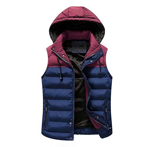 CHIYEEE Heren Winter Gilet Warm Mouwloos Jas Down Katoen Jas Vest Top met Hood L-XXXL