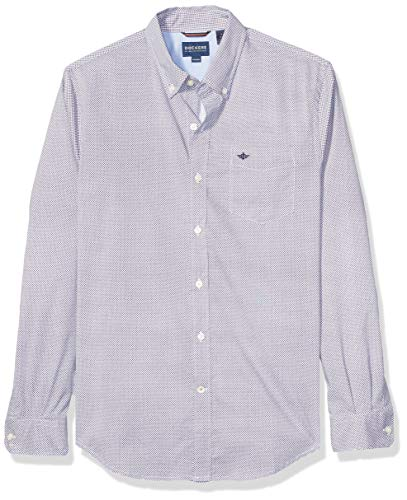 dockers Herren Long Sleeve Front Shirts Button Down Hemd, Maxey Pembroke Print, Klein