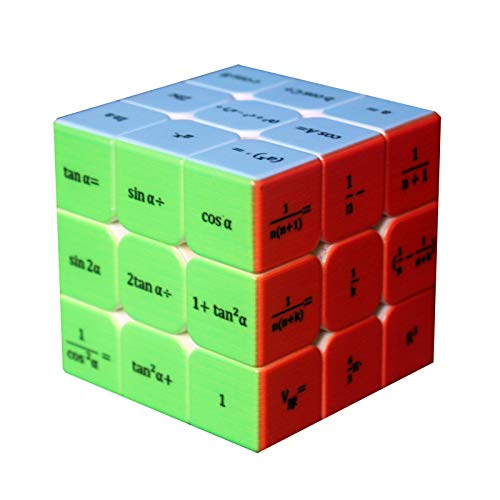 Speed Cube,Rubix Cube, Magic Cube 3x3x3 Math Formula Puzzle Cube Toy for Kids Adults (Solid Color)