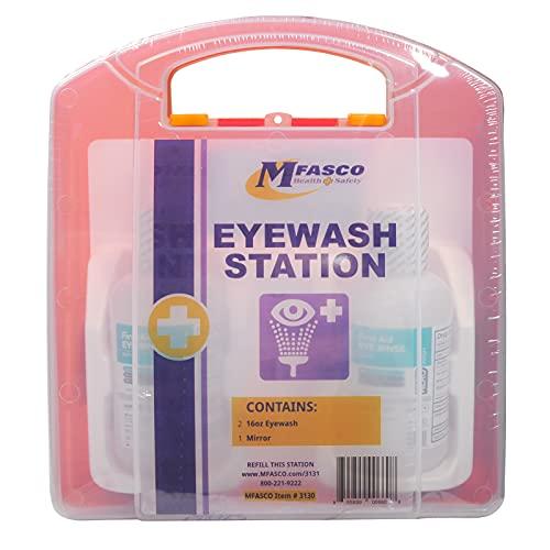 Eyewash Station Kit by MFASCO Double 16 Oz Solution in Plastic Kit