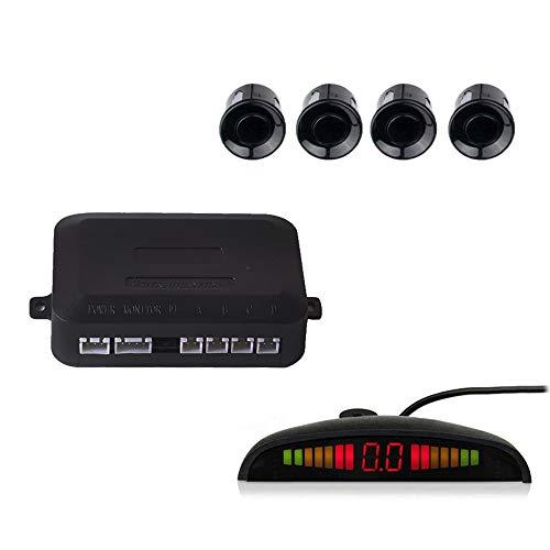 Cocar Backup Parking Radar System, 8 Black Color Parking Sensors Distance Detection & Sound Alert, Waterproof Reverse Parking Sensors for Car Auto Vehicle Truck RV Camper Van (Black)