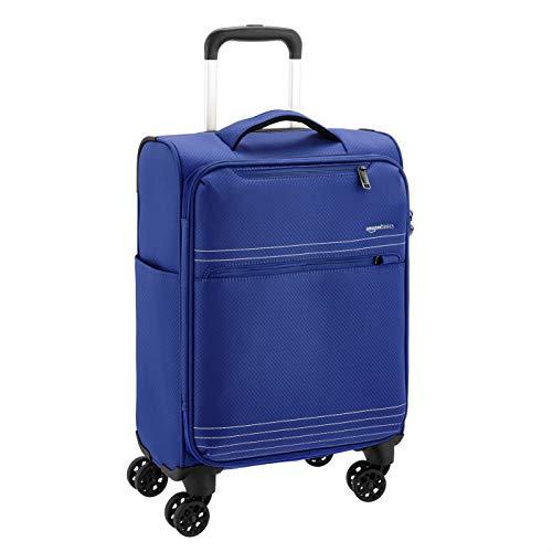 AmazonBasics - Trolley da viaggio morbido e leggero, 56 cm, Blu