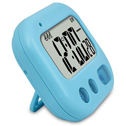 LYM $ Reloj Despertador Digital Reloj de Escritorio Alumno Dormitorio Vibración Reloj de Alarma Temporizador de Cuenta Regresiva Silencio Dibujos Animados Vibración Reloj de Alarma (Color : C)