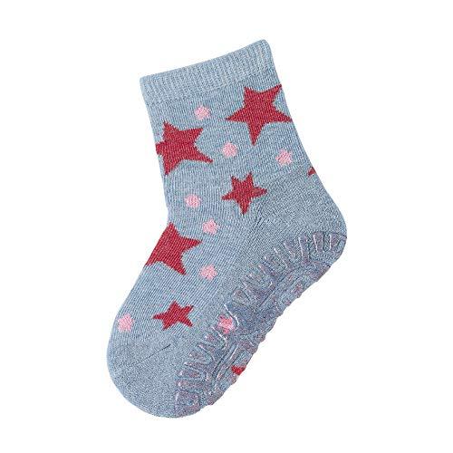 Sterntaler Baby - Mädchen Socken Glitzer-flitzer Air Sterne, Hellblau, 18