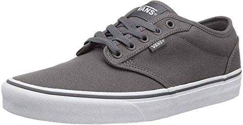 Vans Men Low-Top Sneakers, Canvas Pewter White, US:7
