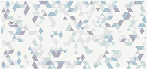 Papel pintado 3D personalizado con mosaico blanco azul púrpura personalizado 3D de alta resolución imagen de textura de fondo - Mural de pared extraíble 99x69 pulgadas 10x0.53m (393.7x20.9 pulgadas)