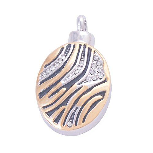 ANAZOZ roestvrijstalen huisdierverlies meorial urn ash halsketting hanger vuurbestschaduw voor Crystal ovale fles goud