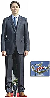 Fan Pack - Justin Trudeau Canadian Prime Minister Lifesize and Mini Cardboard Cutout / Standup - Includes8x10 Star Photo