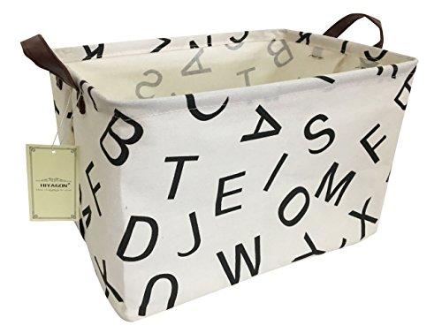 HIYAGON Rectangular Storage Baskets,Ramie Cotton Toy Storage Bin with Stylish Pattern for Home Organization,Gift Basket…