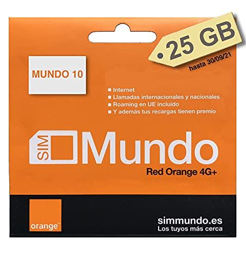 Orange Spain - Tarjeta SIM Prepago 25 GB en España | 5.000 Minutos Nacionales | 50 Minutos internacionales | Activación Online Solo en www.marcopolomobile.com