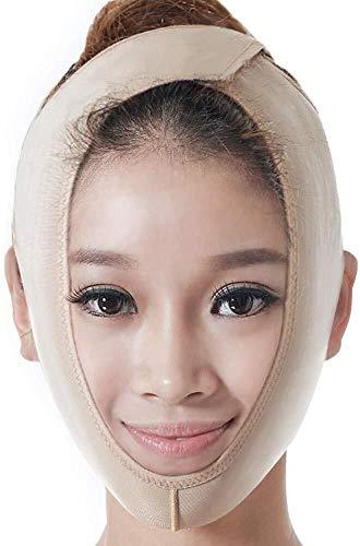 Artefact lifting facial en forme de V Ceinture mince visage, ultra-mince respirante Jaw Set V Artefact Face à Enhance double menton Beauté Masque, 4 tailles L'outil de visage (Size : XL)