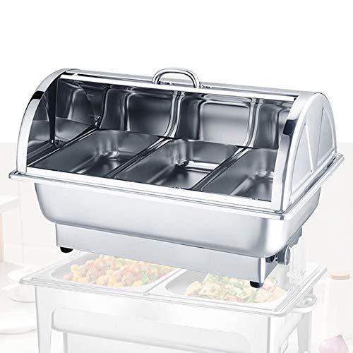 DBMGB Chauffe Plat Chafing Dish Electrique, 9L Chauffe-Plat Buffets Chauffants pour Garde Les Plats au Chaud, Parfait pour Les Buffets, Banquets, Fêtes à la Maison