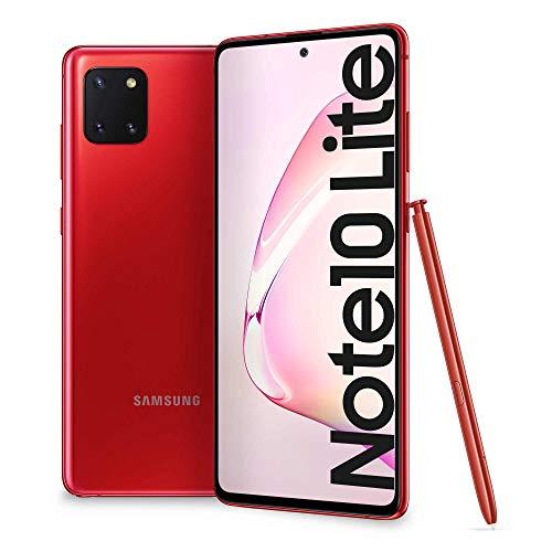 "Samsung Galaxy Note 10 Lite - Smartphone 6.7""/17cm - Cam (12+12+12)/32Mpx - 128GB - 6GB RAM - 4G- Dual SIM - [Italienische Version], Rot"