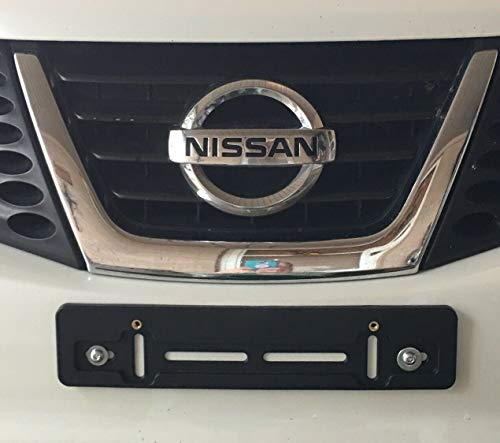 Front License Plate Tag Holder Mounting Mount Adapter Bumper Kit Brackets for NISSAN (All Models) QUANTITY DISCOUNT (9.45$ to 5.60$) (each with 6 Unique Screws + Wrench + 2 Built In Nuts) NEW (1)