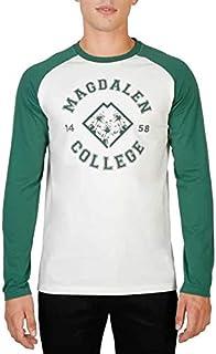 Oxford University Men's MAGDALEN-RAGLAN-ML T-shirt Green