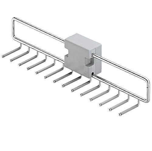Gedotec Gürtel-Halter montieren Krawattenhalter modern Ablage kompakt - Kesseböhmer IDEAL | 74 x 455 x 87 mm | für 14 Krawatten | Stahl silberfarben | 1 Stück