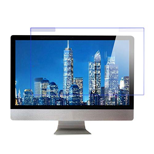 WLWLEO Desktop Computer Screen Protector Film Hanging Anti Blue Light Screen Protector Panel for iMac21.5/27inch Monitor Relieve Eye Strain,21.5' (530×320mm)