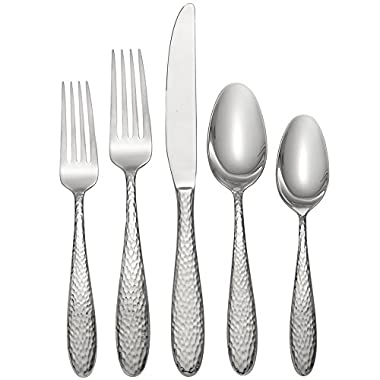 Oneida Reyna 45 Piece Casual Flatware Set, 18/0 Stainless, Service for 8