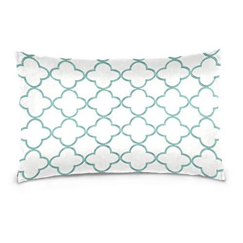 LORONA Funda de cojín con estampado marroquí, funda de lino para decoración del hogar, funda de cojín con cremallera invisible para sofá y cama, 40,6 x 60,9 cm