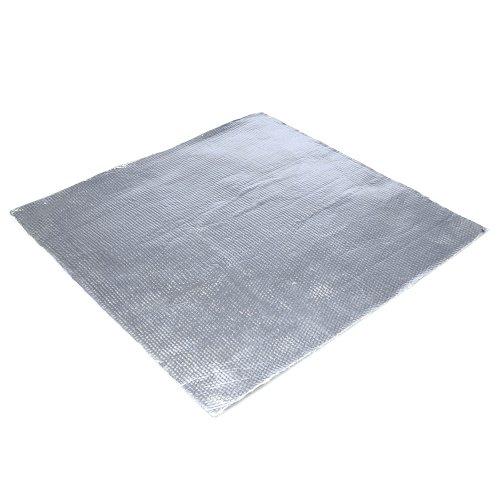 Hitzeschutz selbstklebend aus Kevlar für Motorrad Modellbau Ofen Auto Haushalt Hitzedämmung bis 500°C, 50 x 50 cm