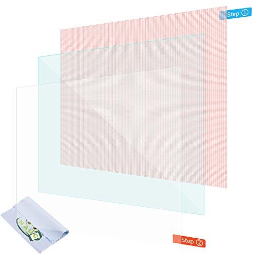NAUC 2X Bildschirmschutzfolie 10.1 Zoll Tablet Schutzfolie Universal Bildschirmfolie Folie