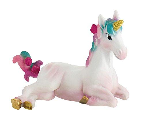 Bullyland 75572 - Spielfigur, Einhorn Fohlen, ca. 7 cm groß, liebevoll handbemalte Figur, PVC-frei, tolles Geschenk für Jungen und Mädchen zum fantasievollen Spielen