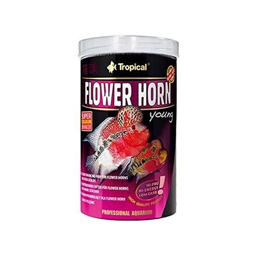 Tropical Flower Horn Young Pellet, con Vitamina C, 1er Pack (1x 250ml)
