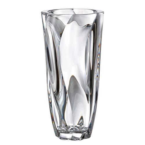 la galaica Vaso in Cristallo - Bohemia - Collezione Barley Twist - 15x15x30,5 cm.