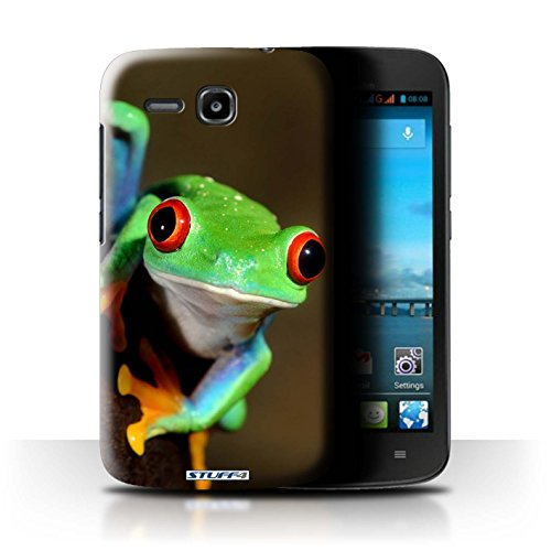 Hülle Für Huawei Ascend Y600 Wilde Tiere Frosch Design Transparent Ultra Dünn Klar Hart Schutz Handyhülle Case