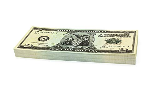 Cashbricks 100 x $2 Dollar Spielgeld Scheine