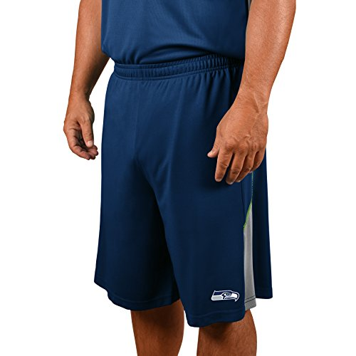Profile Big & Tall NFL Seattle Seahawks Adult Men NFL Plus Synthetic Shorts,4X,Navy