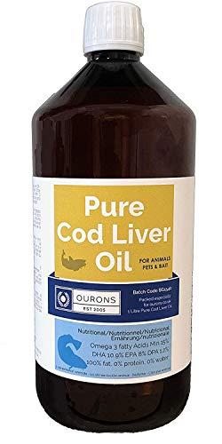1 litre pur huile de foie de morue liquide 100% pur complément nutritionnel d'animaux