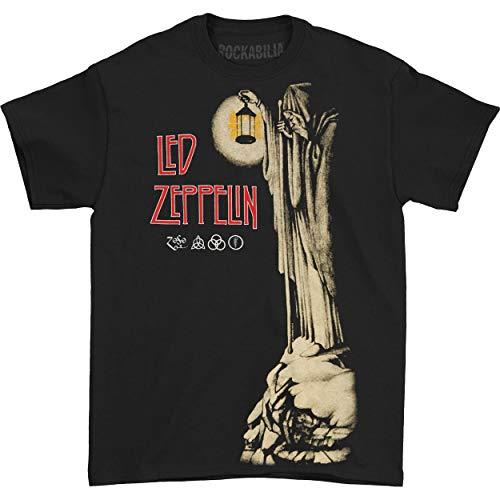 Led Zeppelin - Camiseta - Hombre de color Negro de talla Large - Led Zeppelin Band Hermit Nero (Camiseta) -large