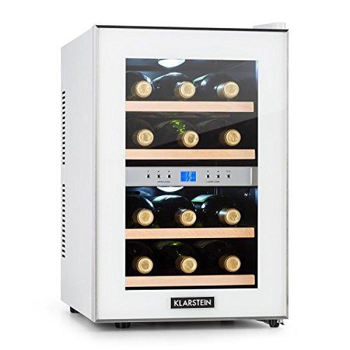 Klarstein Reserva - Nevera de vinos, Refrigerador bebidas, 34 L, 12 Bo