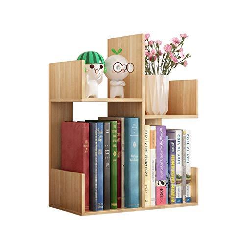 DHTOMC Estante de librería Escritorio Multifunción Bookshelf Creative Combinación de Almacenamiento Capacidad de Almacenamiento Saving Space (Color de la Nuez de luz) Pantalla estantería Xping