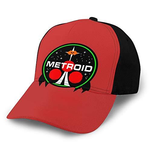 Metroid NASA - Gorra de béisbol, color negro