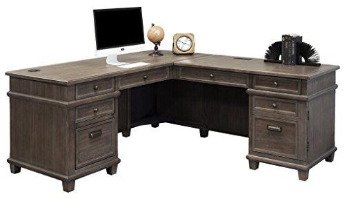 Martin Furniture Weathered Dove Desk & Return
